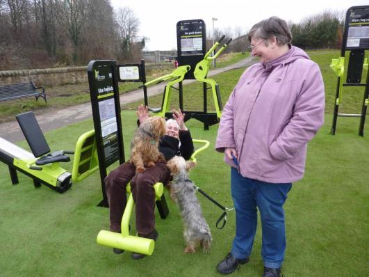 TGO outdoor fitness equipment, Hailes Quarry Park, Edinburgh, Scotland TGO outdoor gym equipment